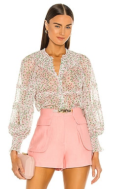 Margery Ruffle Button Blouse Alice + Olivia 421,00€