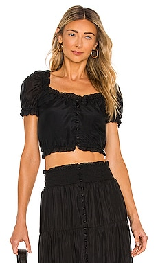 Peggy Button Down Crop Top Alice + Olivia $195