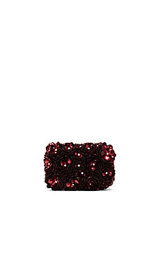 Alice + Olivia Rose Clutch in Red