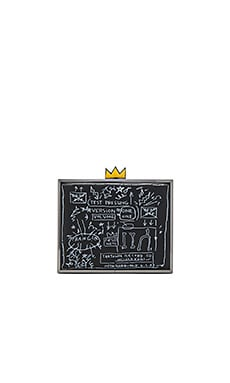 Basquiat Beat Bop Clutch in Black