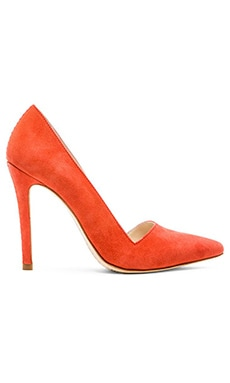 Alice + Olivia Dina Suede Heel in Sunset