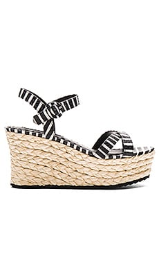 Rachel Wedge en Noir & Serpent Blanc
