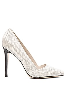 Alice + Olivia Dina Heel in Cream Snake