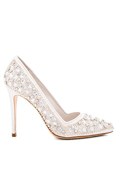 Dina Three Heel in Clear Crystal