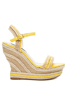 Alice + Olivia Janaya Sandal in Lemon & Natural