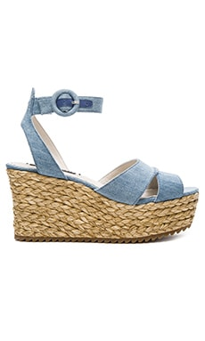 Roberta Sandal in Blue Denim Fabric