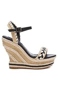 Alice + Olivia Janaya Sandal in Black & White