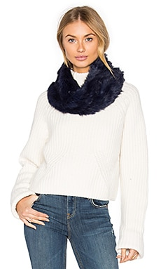 Rabbit Fur Snood in Navy
