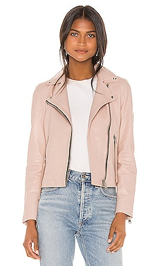 Dalby Leather Biker Jacket ALLSAINTS $450