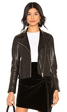 Dalby Leather Biker Jacket ALLSAINTS $450 BEST SELLER