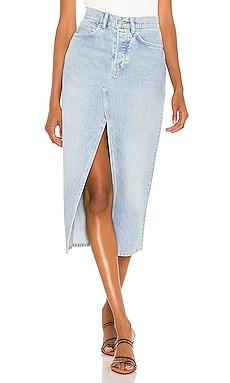 Dottie Denim Maxi Skirt ALLSAINTS $98