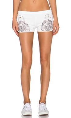 All Things Fabulous Track Shorts in Owls
