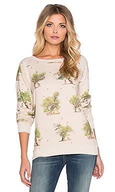 All Things Fabulous Leopard Tree Friends Cozy Sweatshirt in Oatmeal