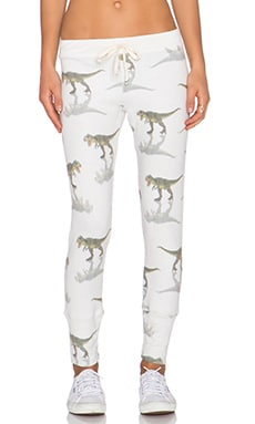 All Things Fabulous T Rex Sweatpant in Stone