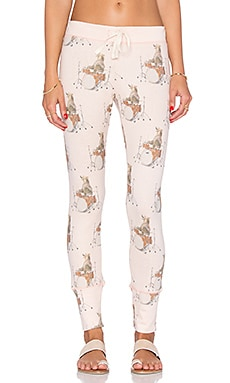 All Things Fabulous Drummer Bear Sweatpant in Blush