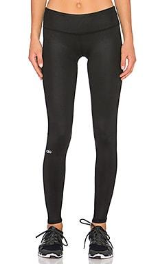alo Airbrush Legging in Black Glossy