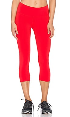 alo Airbrush Capri in Ruby Red