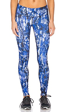 Airbrush Legging in Deep Electric Blue Python