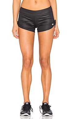 Sweat It Shorts in Black Glossy
