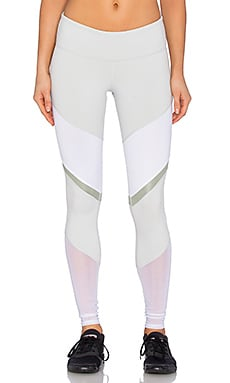 Sheila Legging in Vapor Grey & White Glossy & Sea Mist Glossy & White