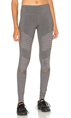 Moto Legging in Stormy Heather Glossy