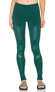 alo Moto Legging in Evermint & Evermint Glossy