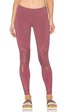 alo Vitality Legging in Grenache & Grenache Glossy