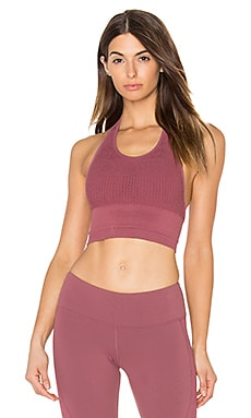 alo Power Crop Bra in Grenache