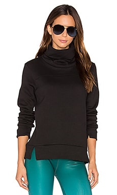 alo Haze Long Sleeve Sweatshirt in Black