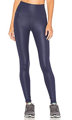 High-Waist Airbrush Legging in Rich Navy Glossy