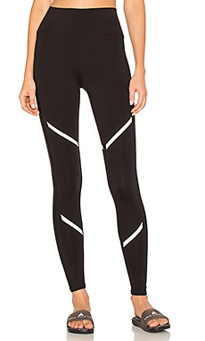 High Waist Continuity Legging in Black, Black Glossy & Silver