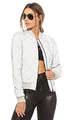 Reflective Idol Bomber Jacket alo $348