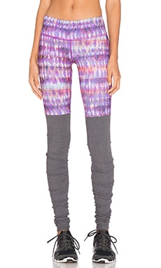 alo Goddess Ribbed Legging in Bhakti & Stormy Heather