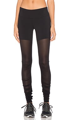 alo Mesh Goddess Legging in Black
