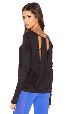 alo Smoke Long Sleeve Top in Black