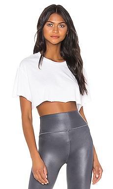 Cropped Short Sleeve Top alo $42