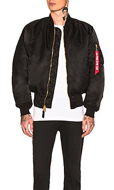 MA-1 BLOOD CHIT 보머 자켓 ALPHA INDUSTRIES $150 베스트 셀러