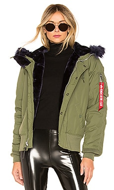 N-2B Impact Parka With Faux Fur Trim ALPHA INDUSTRIES $250 BEST SELLER