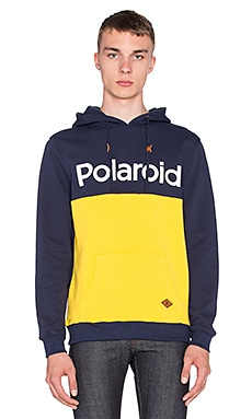 Altru Polaroid Colorblock Hoodie in Navy/Sunray