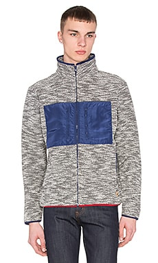 Altru French Terry Funnel Neck Jacket in Navy/Gray