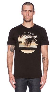 Altru Life Palm Dusk Tee in Graphite