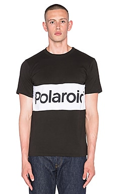 Altru Polaroid Colorblock Tee in Graphite & White
