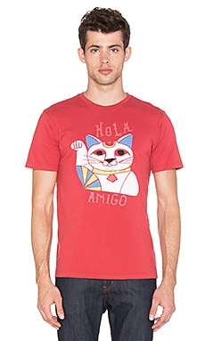 Altru Lucky Cat Tee in Red