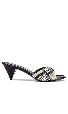Folded Slide On Notched Heel ALUMNAE $189