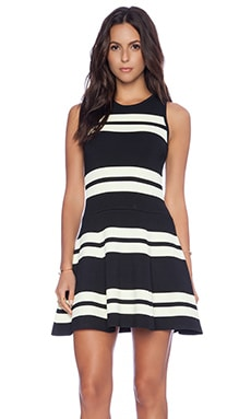 A.L.C. Pippa Dress in Black & Light Canary