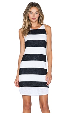 A.L.C. Mesa Dress in White & Navy