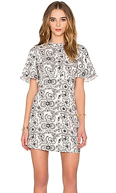 Spencer Dress in White & Black