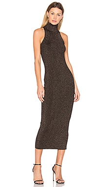 Marc Dress in Black & Apricot