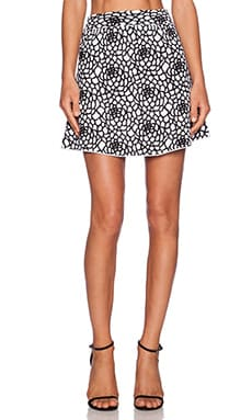 A.L.C. Carly Skirt in White & Black