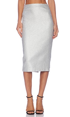 A.L.C. Hill Skirt in Silver